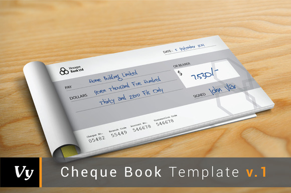 Cheque Check Book Template V.01
