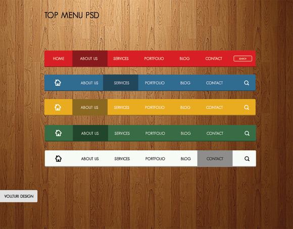 Simple Navigation Bars PSD