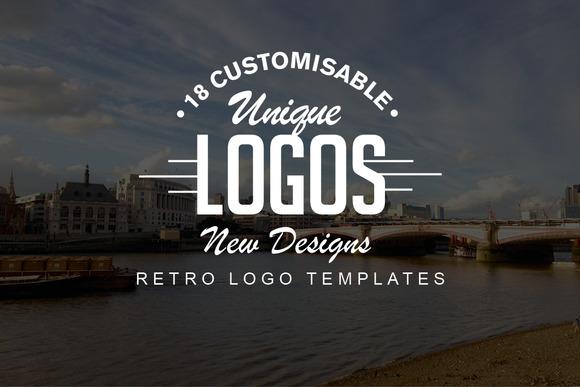 18 Retro Logo Set NEW