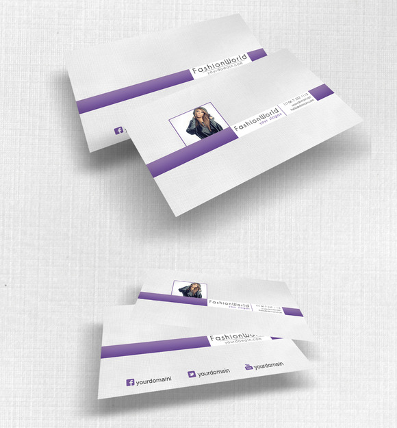 FashionWorld Simple Business Card