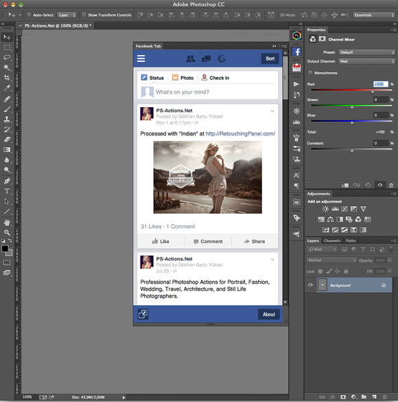 Facebook Tab For Photoshop