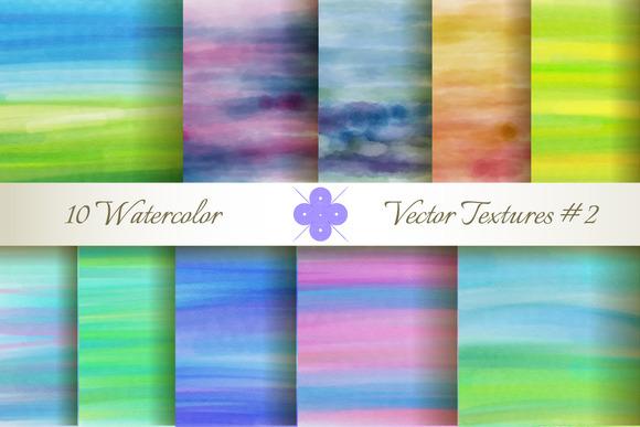 10 Watercolor Vector Textures #2