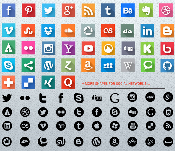 Social Icons Shapes