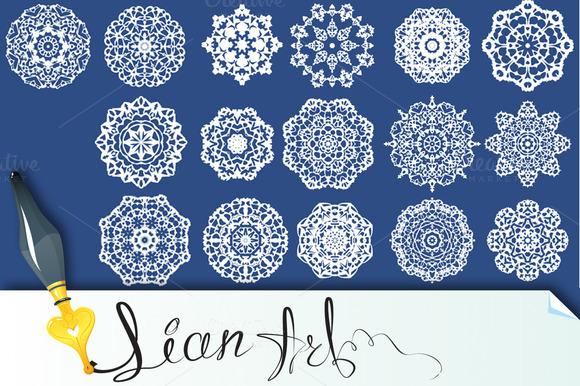 Set Of Decorative Paper Snowflakes
