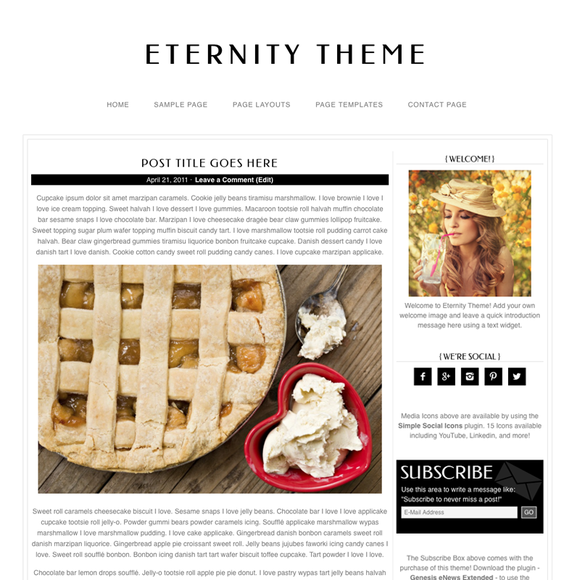 Eternity Black WordPress Theme