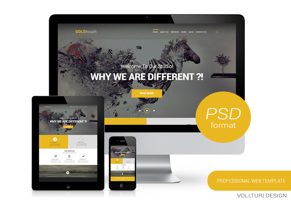 GOLD Touch Creative Homepage PSD