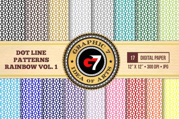 Dot Line Patterns Rainbow V1 DP