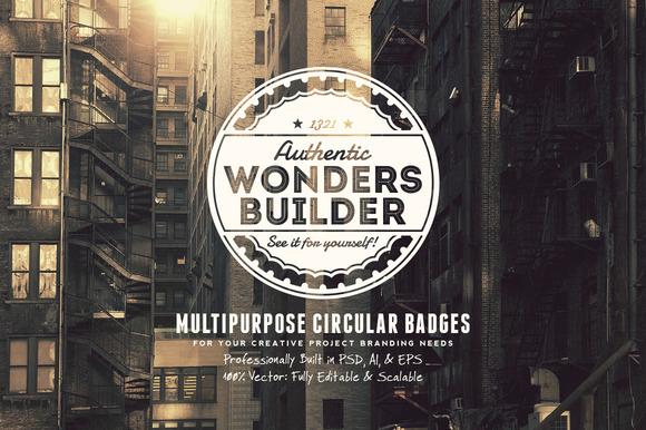 Multipurpose Circular Badges