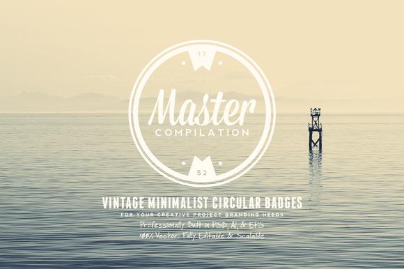 Vintage Minimalist Circular Badges