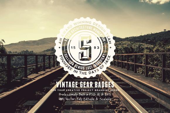 Vintage Gear Badges
