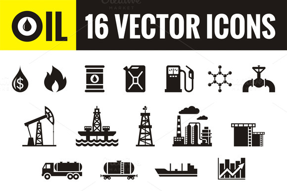 Oil 16 Vector Icons