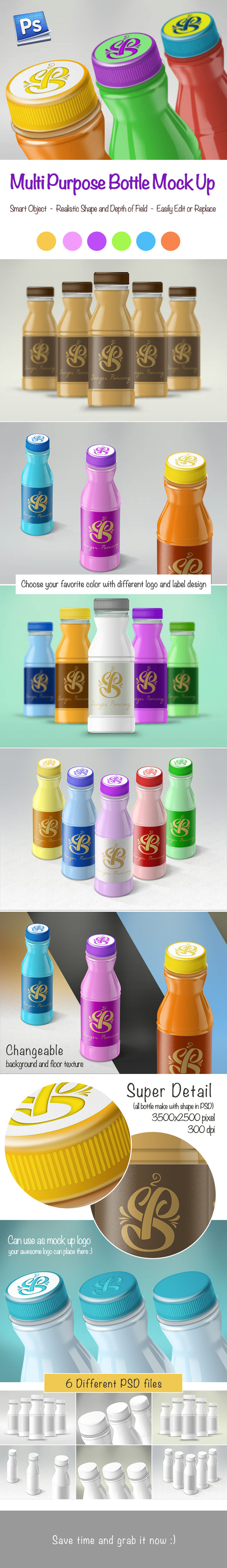 70% OFF Multi-purpose Bottle Mockups
