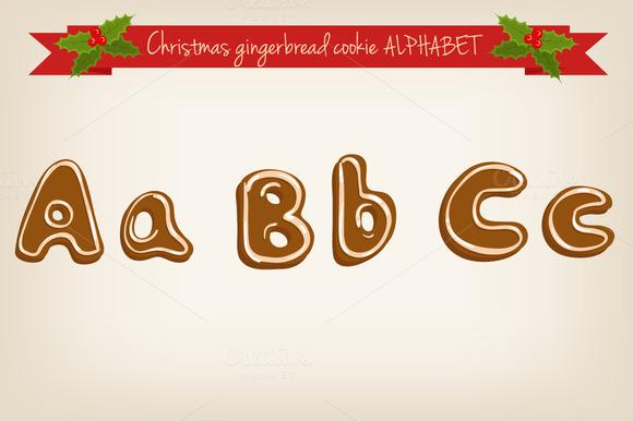 Vector Gingerbread Alphabet