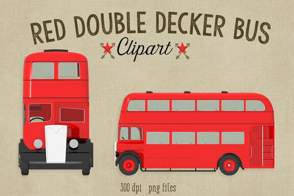 Double Decker London Bus Clipart