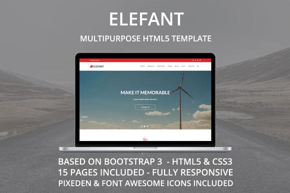 Elefant Multipurpose HTML Template