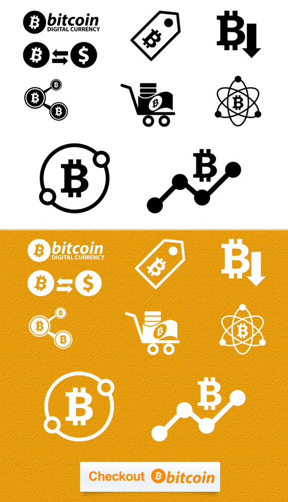 BitCoin Icons For ECommerce Site