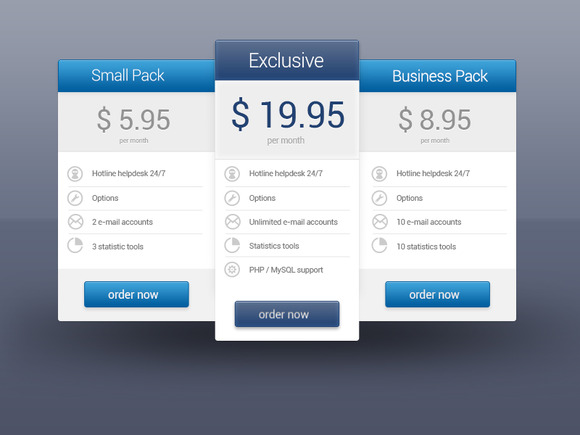 Simple Price Tables In PSD