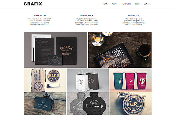 Grafix Responsive WordPress Theme