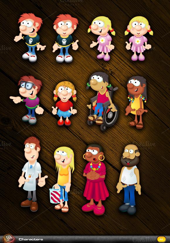Family Mascot Pack 2