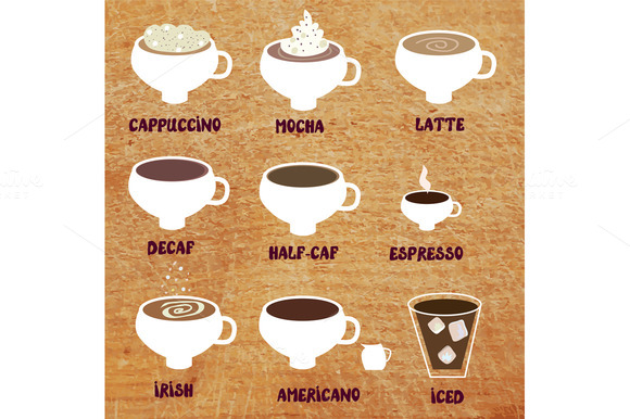 Coffee Sorts Set Vectors