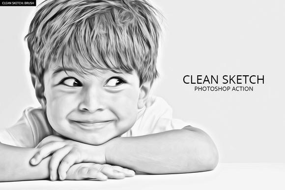 Graphic Pen Sketch Photoshop Action Free U00bb Designtube - Creative Design Content