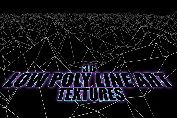 Low-Poly Line-Art Landscape-Textures