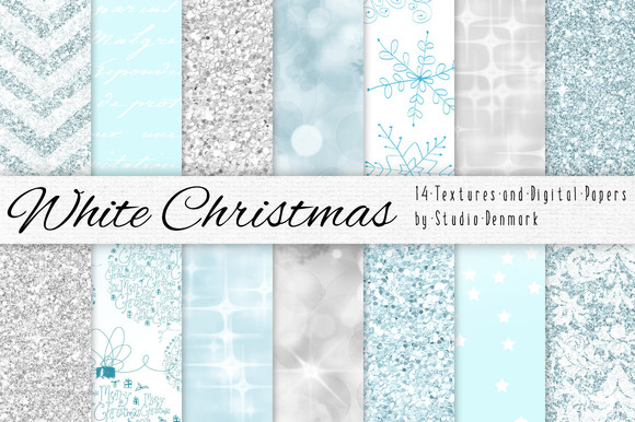 White Christmas Digital Paper