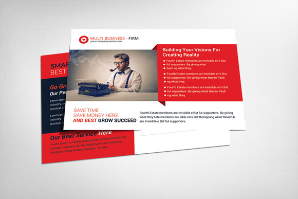 Business Idea Postcard Template