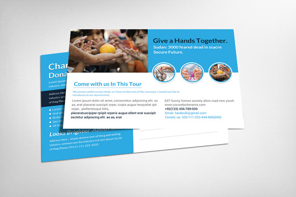 Charity Postcard Template