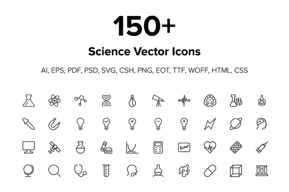 150 Science Icons