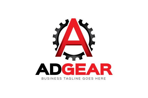 Letter A Gear Logo