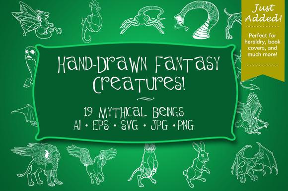 Hand Drawn Fantasy Creatures