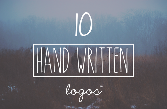 Vintage Handwritten 10 Logo Bundle