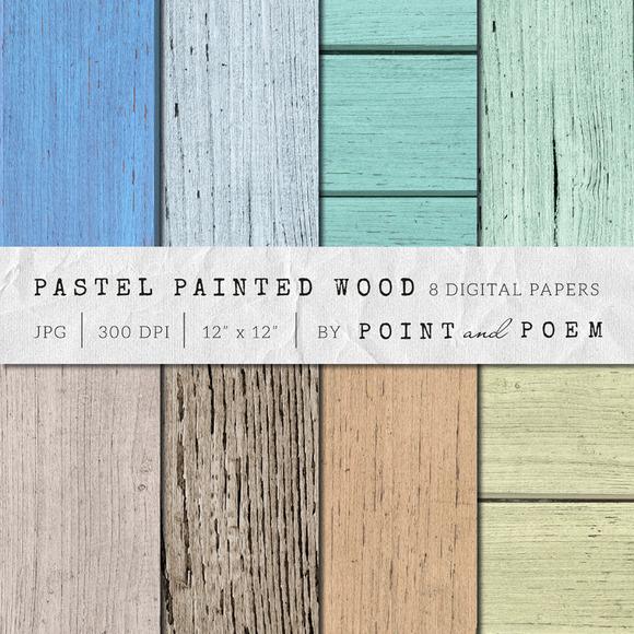Wood Texture Painted Pastel Wood