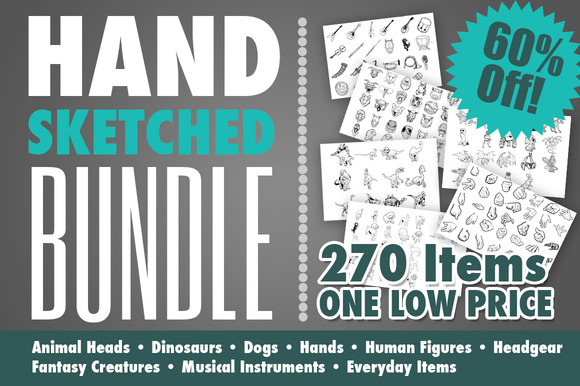 Hand Drawn Art Bundle
