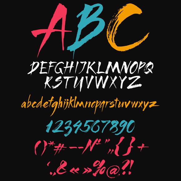 Calligraphic Alphabet