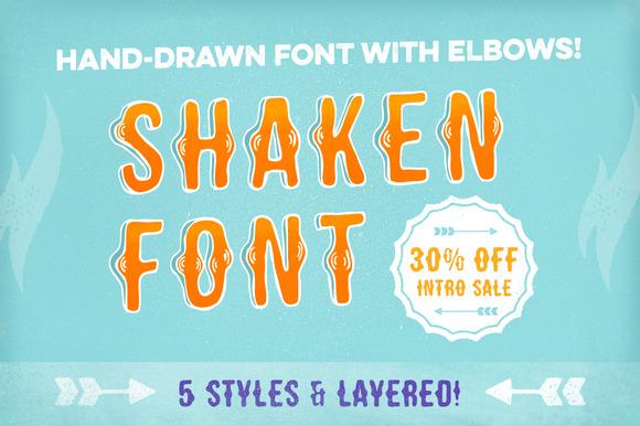 Shaken Font 5 Styles