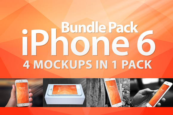 Mockup Iphone 6 Bundle Pack 4in1
