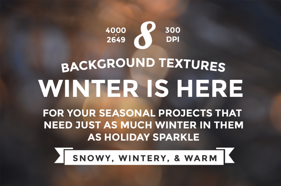 Winter Bokeh Background Textures