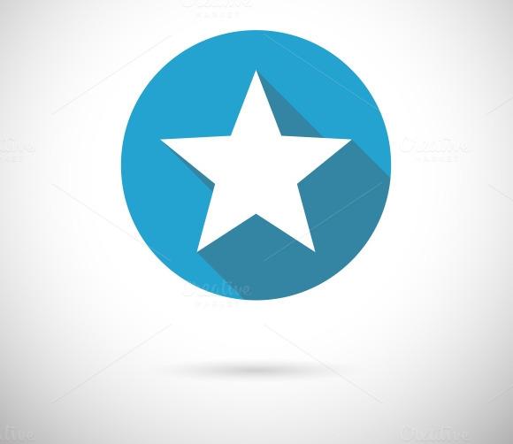 Flat Star Icon
