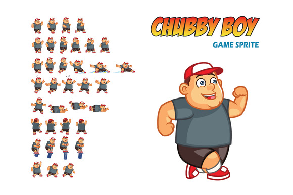 Chubby Boy Game Sprite