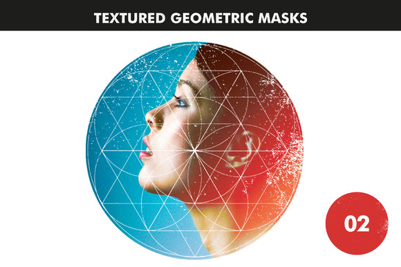 Textured Geometric Masks 02
