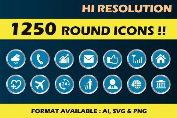 1250 Round Icons