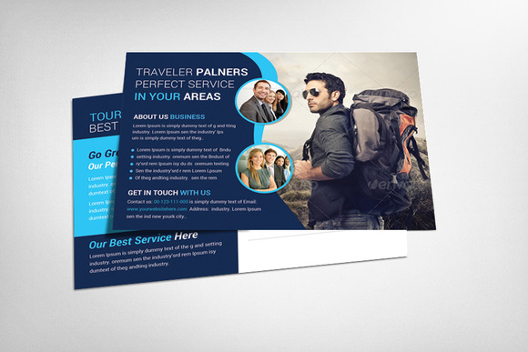 Tour Traveler Postcard Template