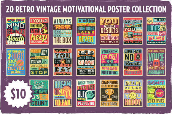 Retro Motivational Poster Collection