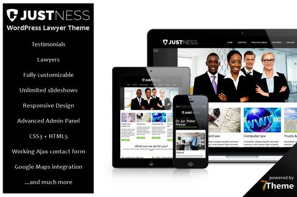 Justness Responsive Lawyer Theme