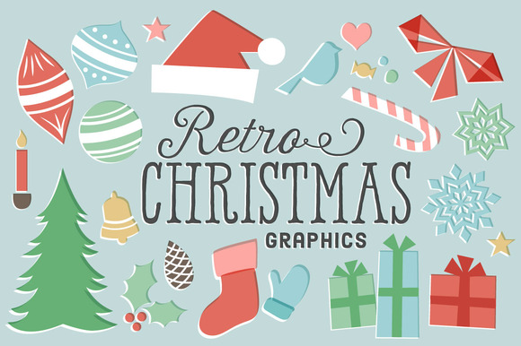Retro Christmas Graphics