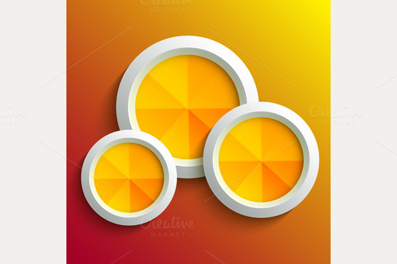 Abstract 3D Circle Set