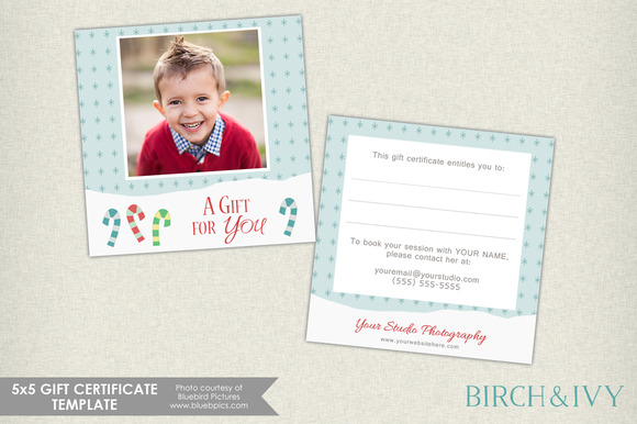 5x5 Winter Gift Certificate Template