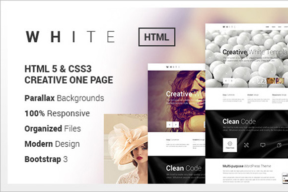 WHITE Creative One Page Html Theme